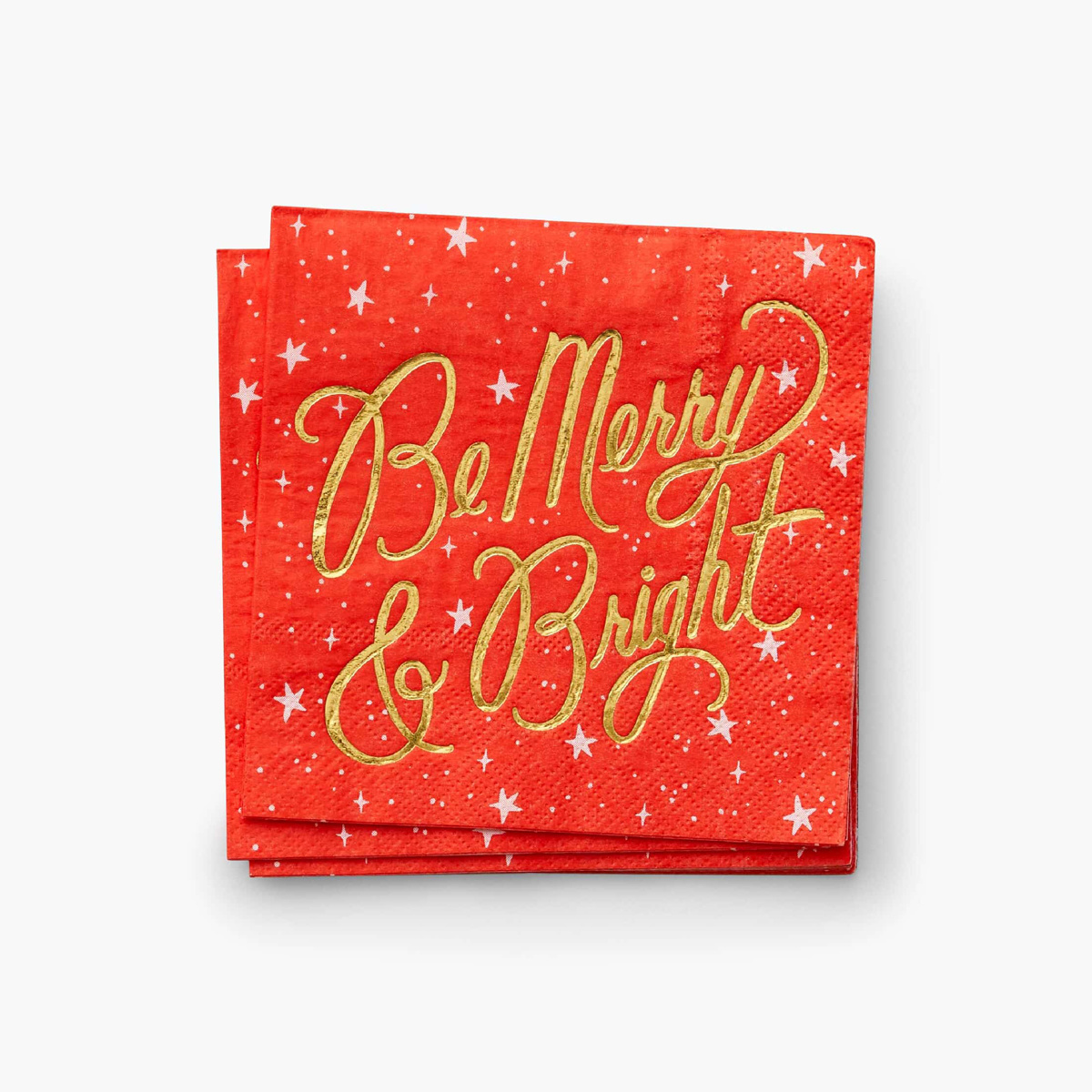 Rifle Paper Co - RP Rifle Paper - Merry & Bright Cocktail Napkins, set of 20