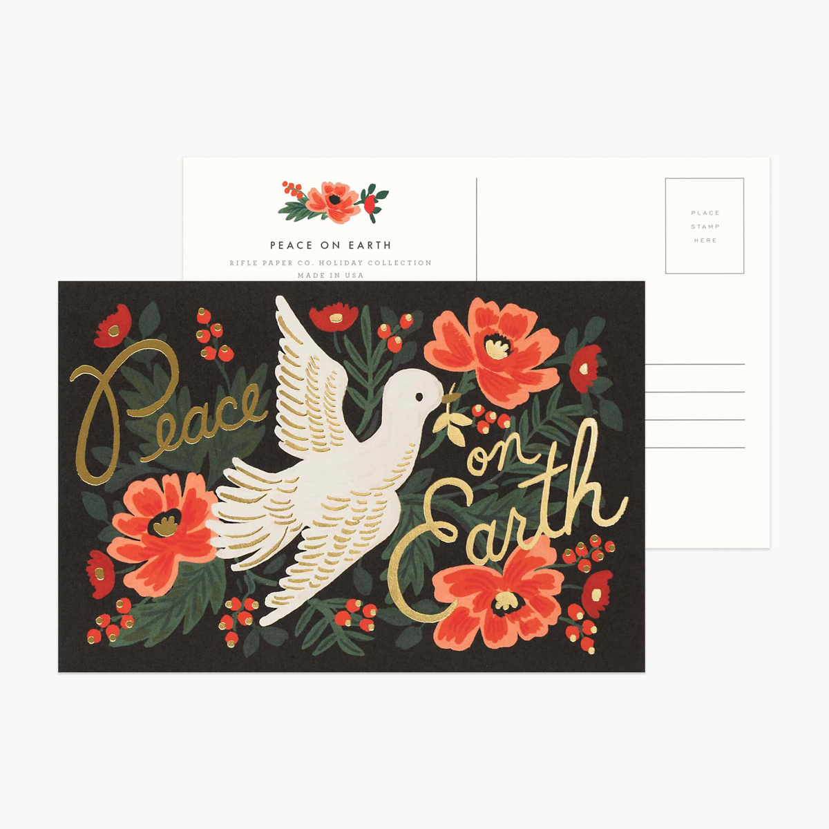 Rifle Paper Co - RP Rifle Paper - Peace on Earth Postcards, Set of 10