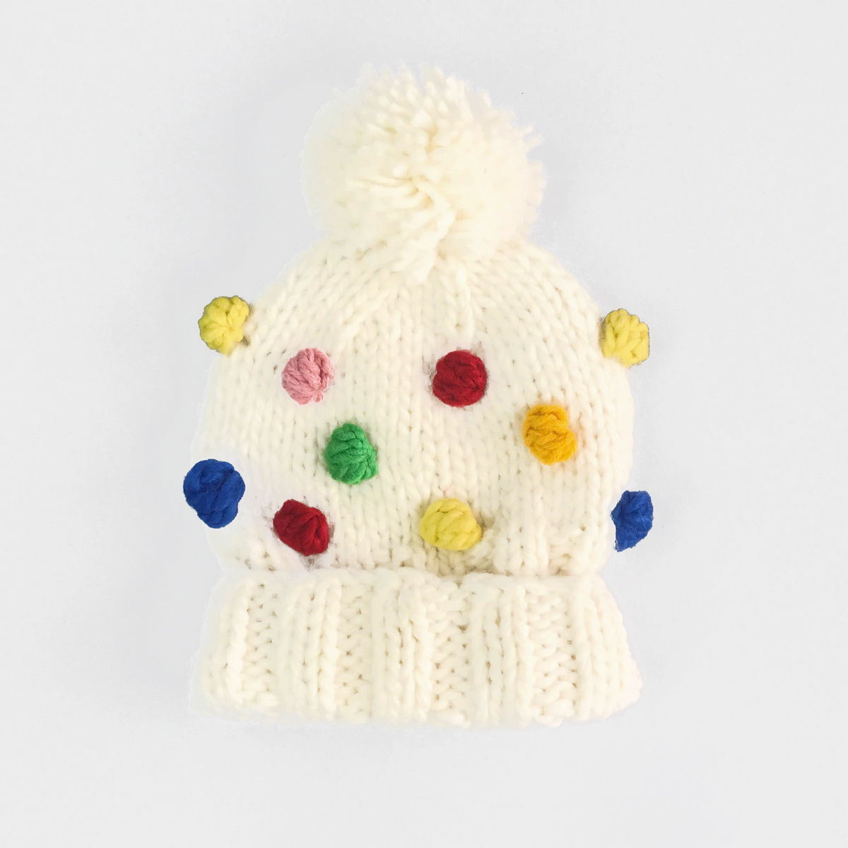 The Blueberry Hill - BH Percy Rainbow Dot Hat, 12-24 month