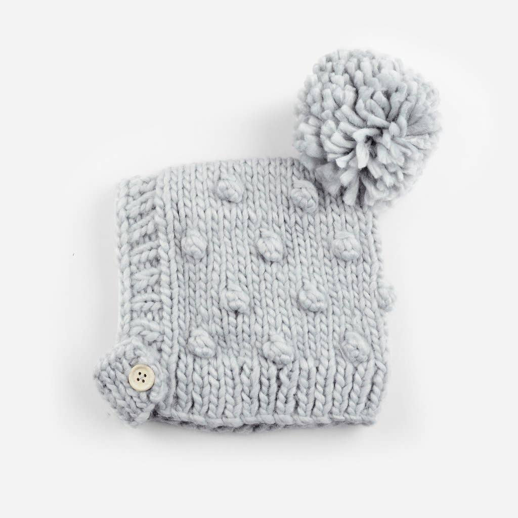 The Blueberry Hill - BH Bowie Knit Bonnet, Gray, 3-12 month