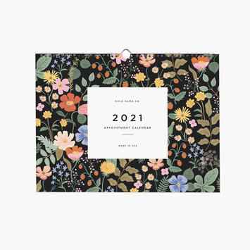 Rifle Paper Co - RP Rifle Paper Co - 2021 Garden Horizontal Appointment Calendar