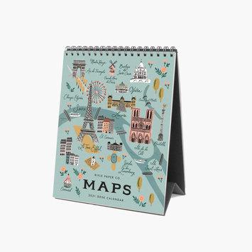 Rifle Paper Co - RP Rifle Paper - 2021 City Maps Desk Calendar