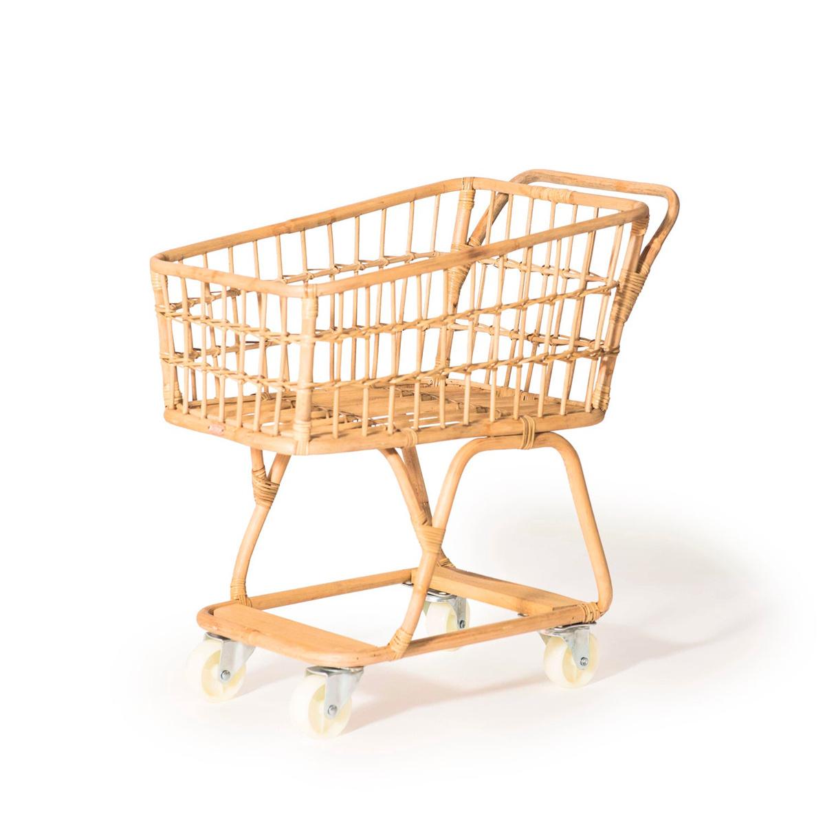 Poppie Rattan Shopping Cart