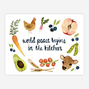 Little Truths Studio - LTS World Peace in the Kitchen Print, 8.5 x 11 inch