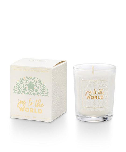 illume candles Good Cheer Juniper Moss  Votive Candle