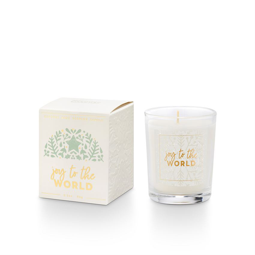 illume candles Good Cheer Juniper Moss  Votive Candle