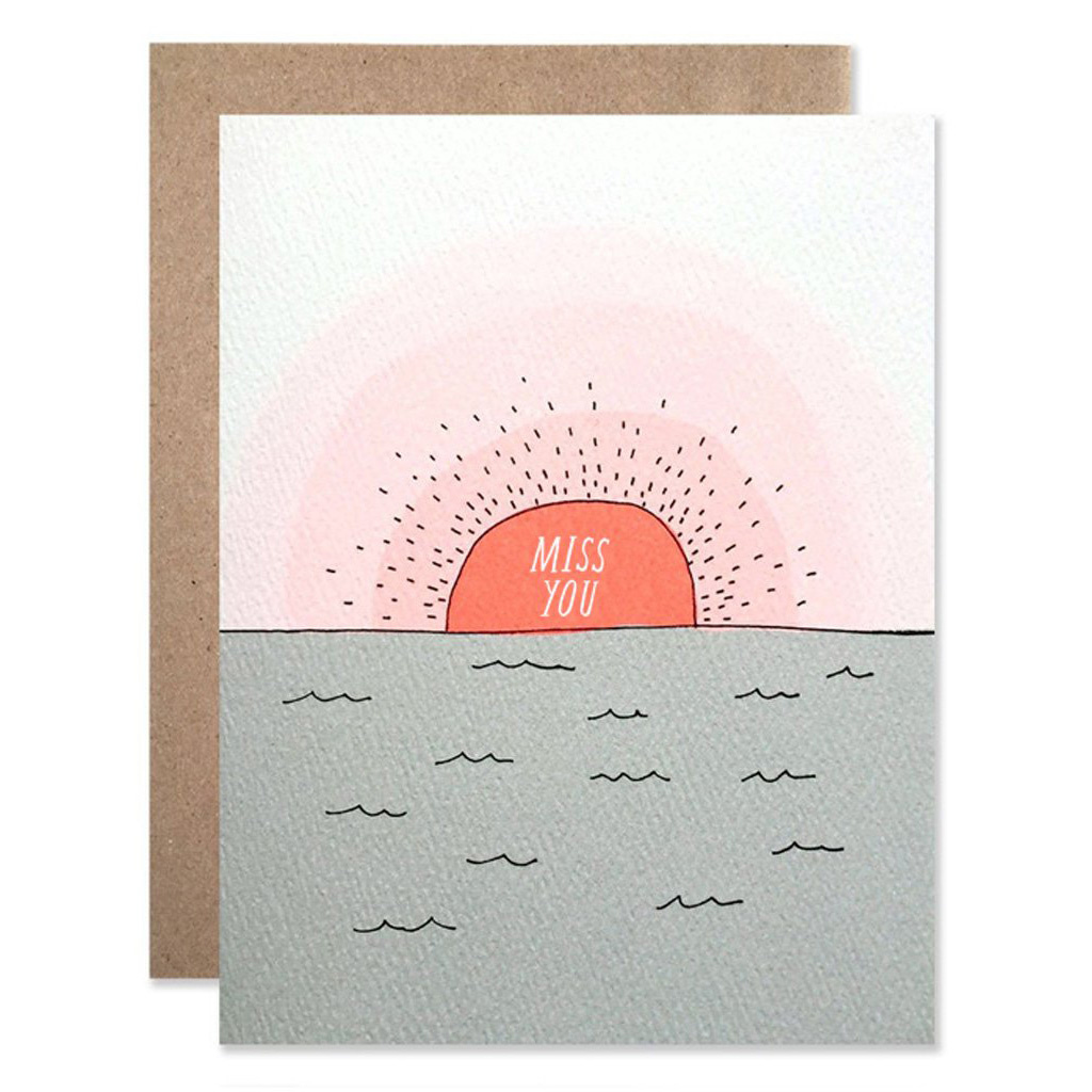 Hartland Brooklyn - HAR Miss You Sunset Card