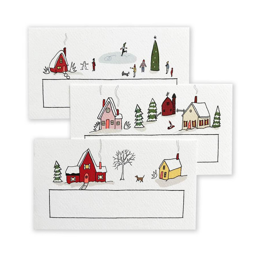 Hartland Brooklyn - HAR Holiday Village Mini Notes - 48 Pack