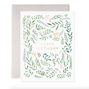 E. Frances Paper Studio - EF EFGCBI0042 - Pretty Leaves Birthday