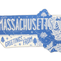 Noteworthy Paper and Press - NPP NPP PC - Greetings From Massachusetts Postcard