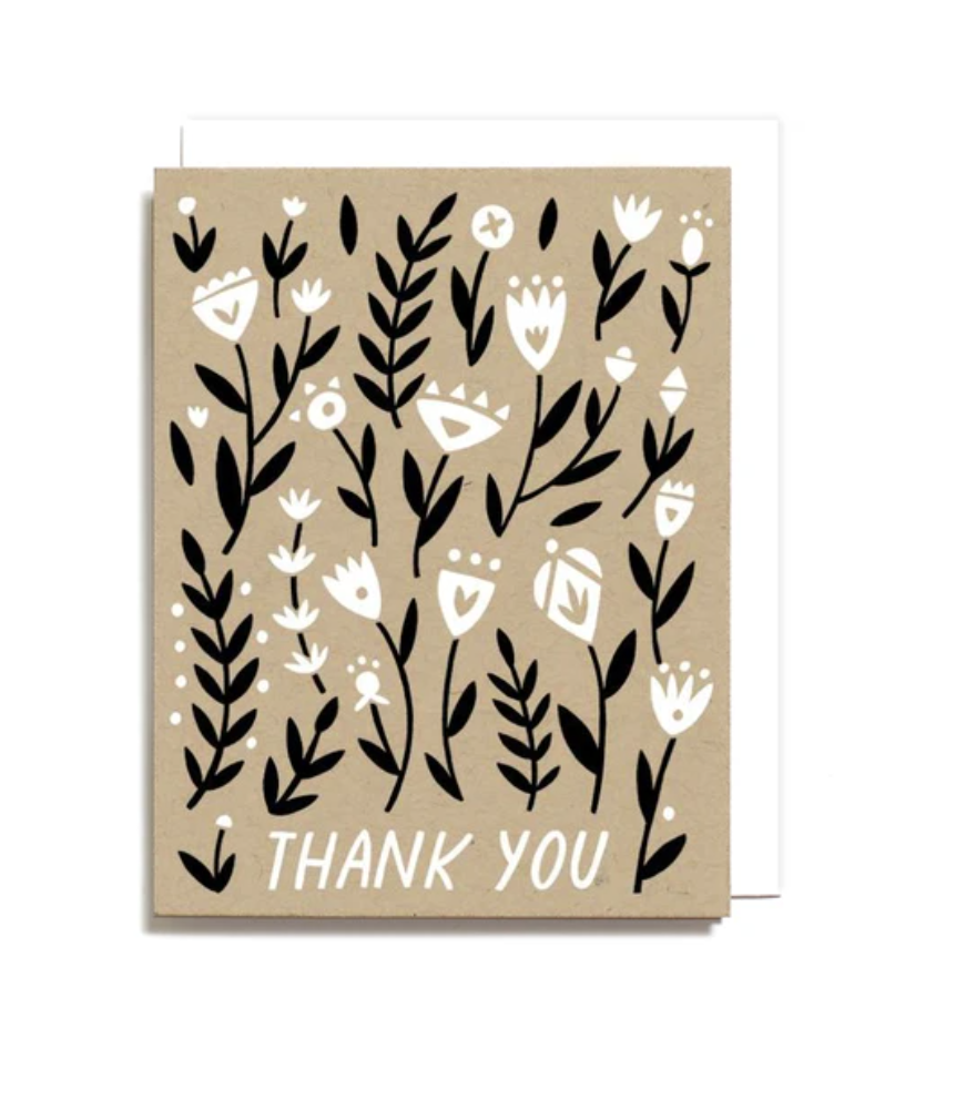 Worthwhile Paper - WOP WOP NSTY - Thank You Floral, Set of 6
