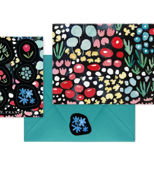 E. Frances Paper Studio - EF EF NSBL - Green Meadow Notes and Sticker, Set of 6