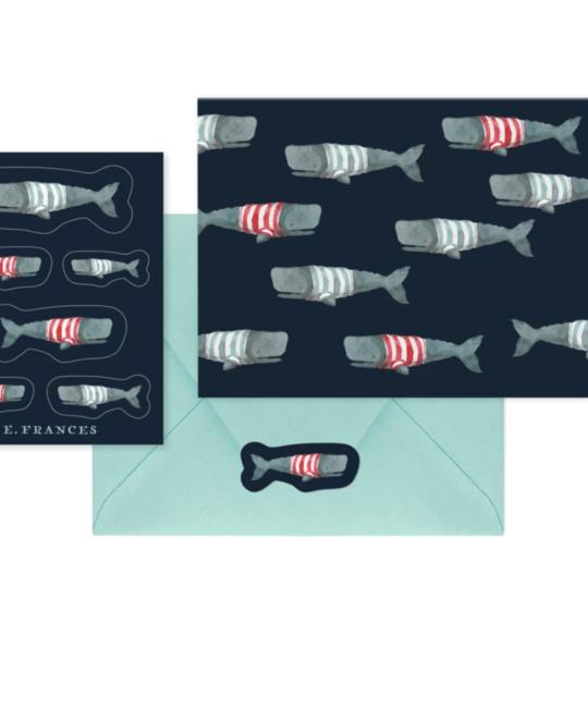 E. Frances Paper Studio - EF EF NSBL - Swimming Frankies Notecard and Sticker Set