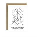 Worthwhile Paper - WOP WOP NSHO - Peace & Love Christmas, Set of 6