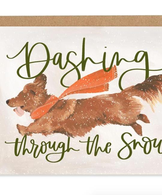 One Canoe Two Letterpress - OC OC NSHO - Dashing Dog, Set of 8