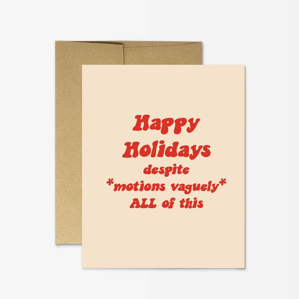 Party Mountain - PM Happy Holidays Motions Vaguely Card