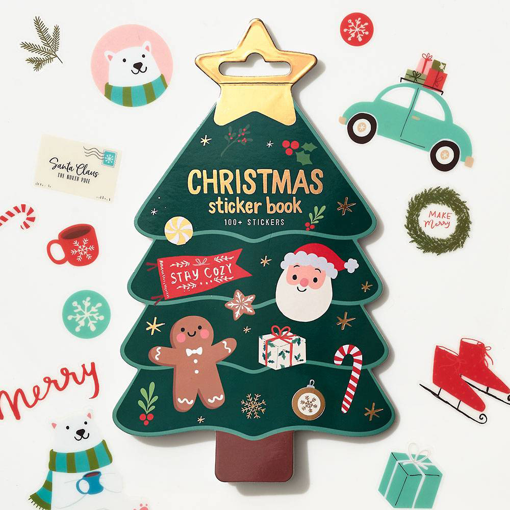 Waste Not Paper - WN Christmas Tree Sticker Book