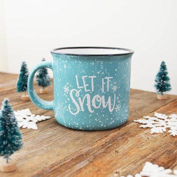 Pen and Paint - PEPA Let it Snow Blue Ceramic Holiday Mug