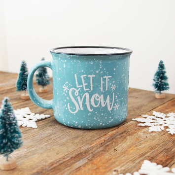 Pen and Paint - PEPA Let it Snow - Blue Ceramic Mug