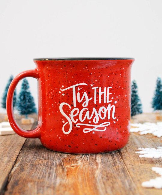 Pen and Paint - PEPA 'Tis the Season Ceramic Red Holiday Mug