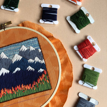 M Creative J - MCJ Mountains and Tulips- DIY Beginner Embroidery Kit