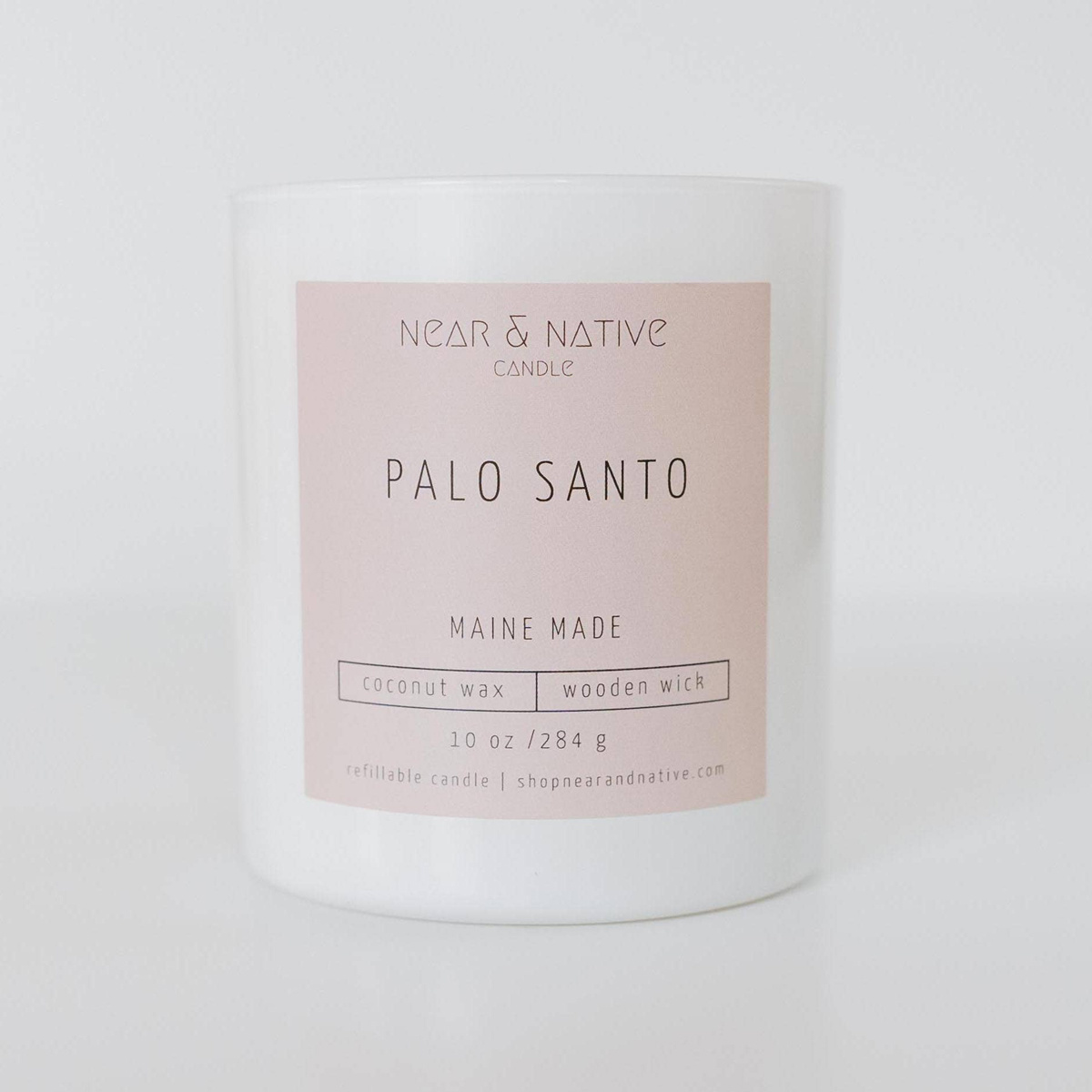 Near & Native Palo Santo Wood Wick Candle, Made in Maine