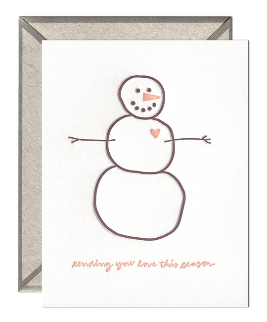 ink meets paper Sending Love Snowman
