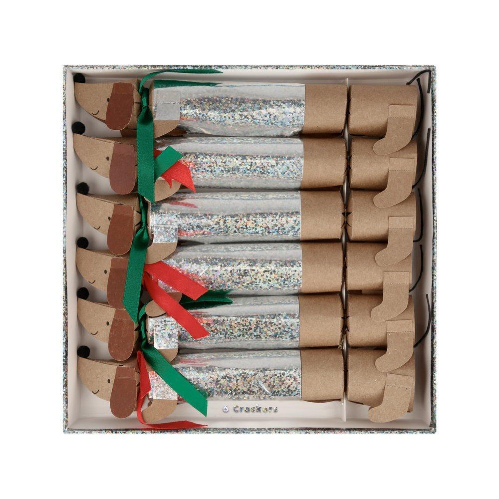 Meri Meri - MEM Sparkle Sausage Dog Medium Crackers