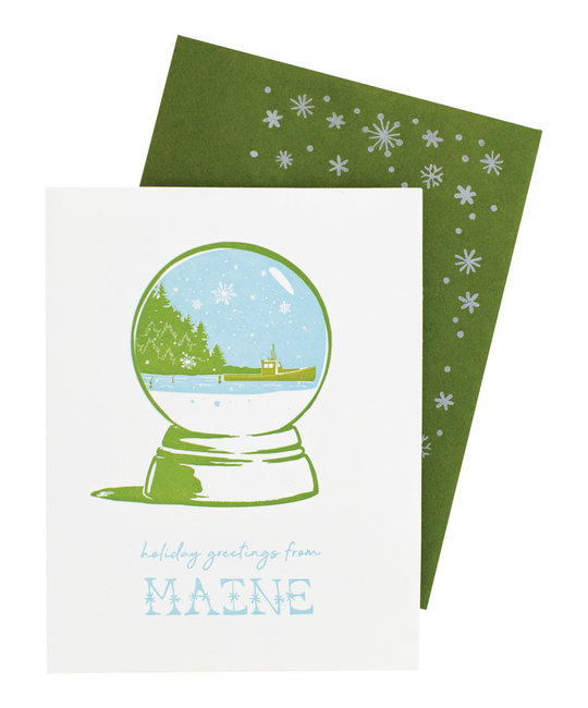 Smudge Ink - SI Maine Snowglobe Cards, set of 8