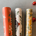 Gus and Ruby Letterpress - GR Mistletoe and Holly Set of 3 Wrapping Paper Rolls