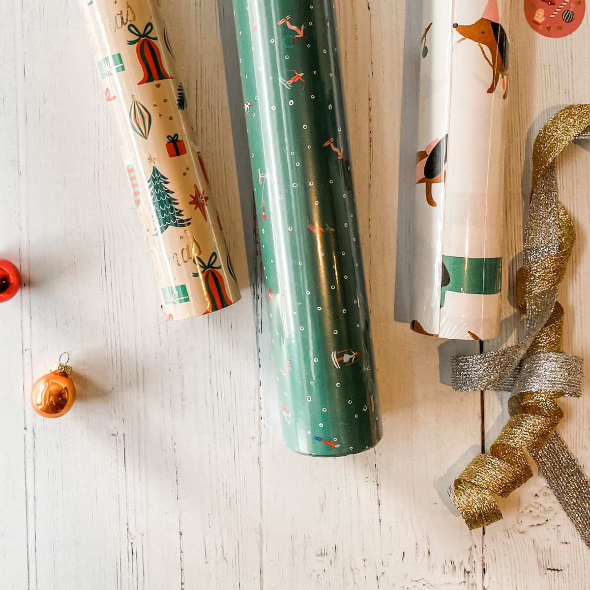 Gus and Ruby Letterpress - GR Deck the Halls Set of 3 Wrapping Paper Rolls