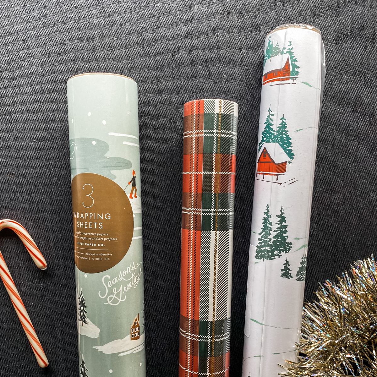 Gus and Ruby Letterpress - GR Cozy Cabin Set of 3 Wrapping Paper Rolls