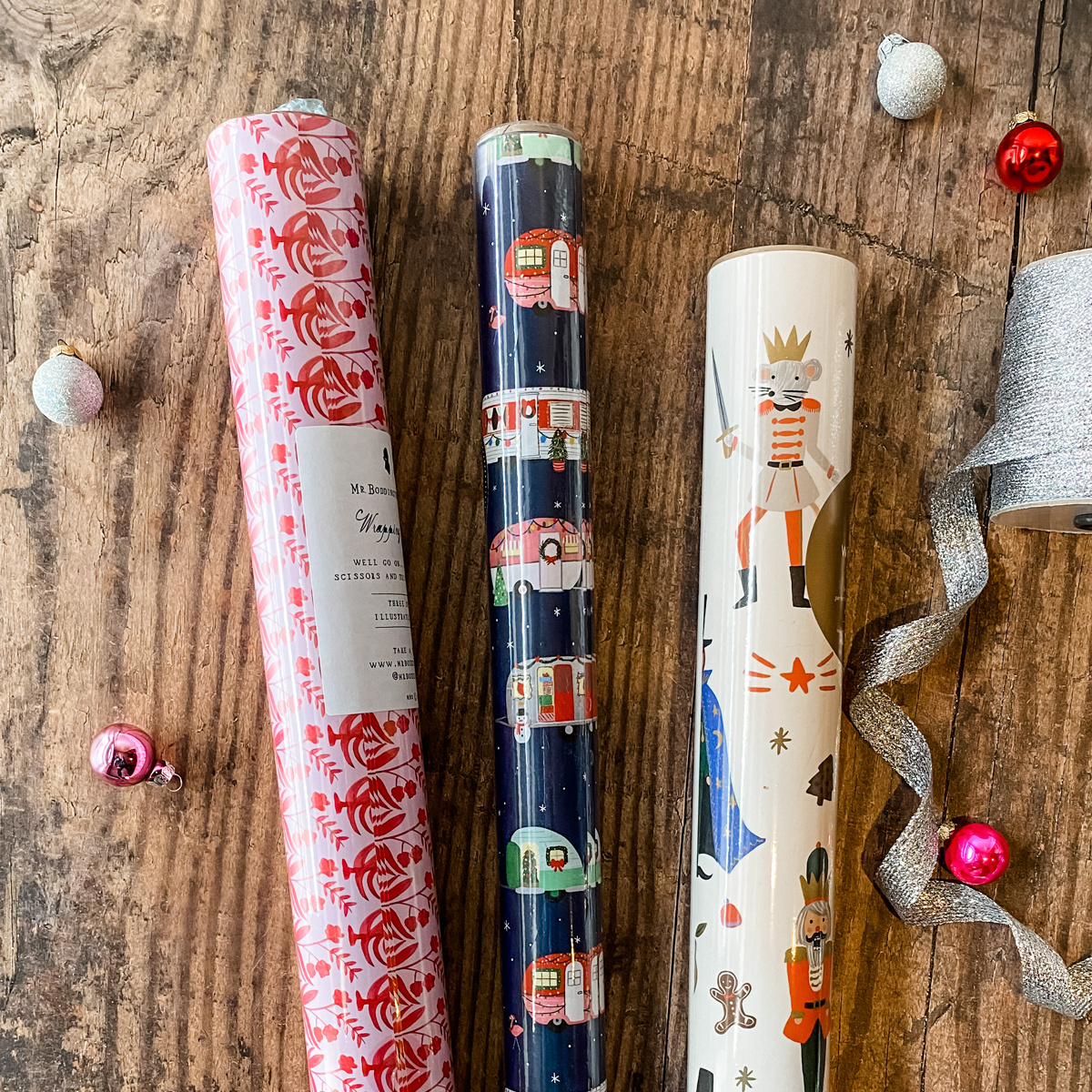 Gus and Ruby Letterpress - GR Nutcracker Campers Set of 3 Wrapping Paper Rolls