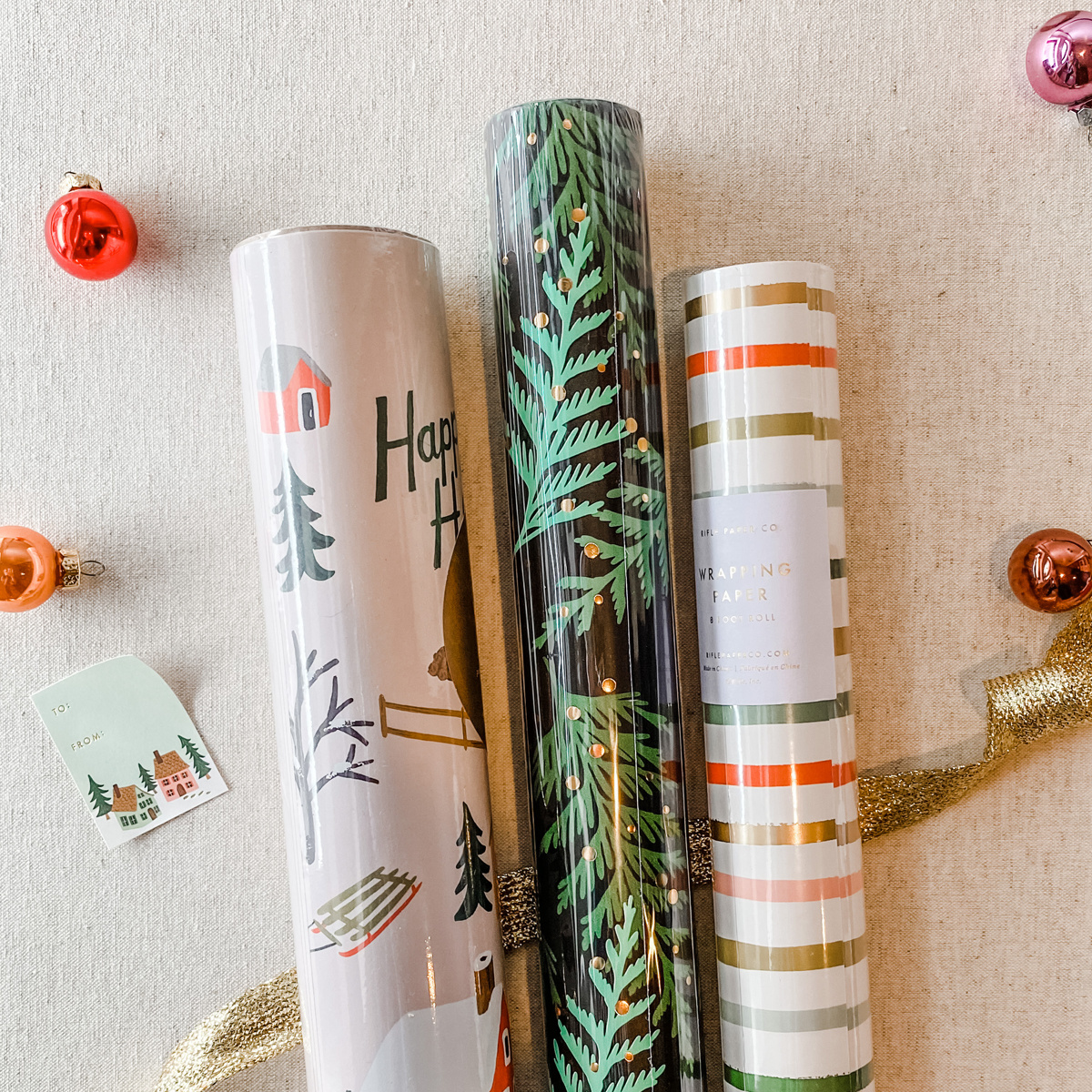 Gus and Ruby Letterpress - GR Tree Farm Set of 3 Wrapping Paper Rolls