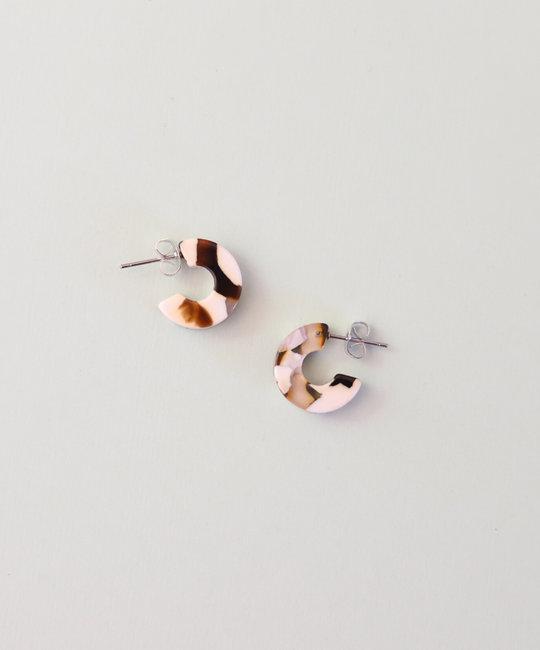 Nat + Noor - NAN Mali Earrings in Coco Cream