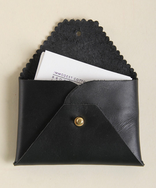IMMODEST COTTON x Fleabags Immodest Cotton - Credit Card Envelope, Black