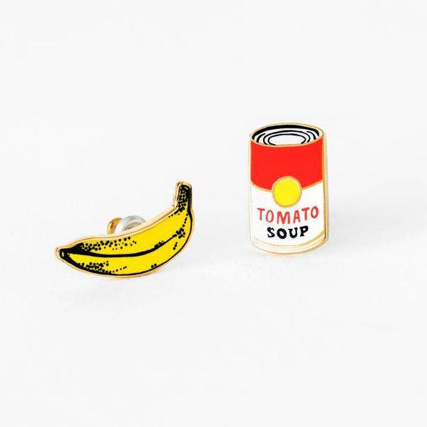 Yellow Owl Workshop - YOW Pop Art Banana and Soup Earrings