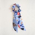 Felicity Howells - FH Periwinkle Birch Floral Hair Scrunchie