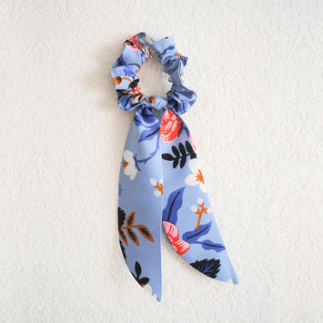 Felicity Howells - FH Periwinkle Birch Floral Hair Scrunchie