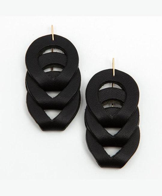 Dear Survivor - DS Dear Survivor - Black Woven Earrings