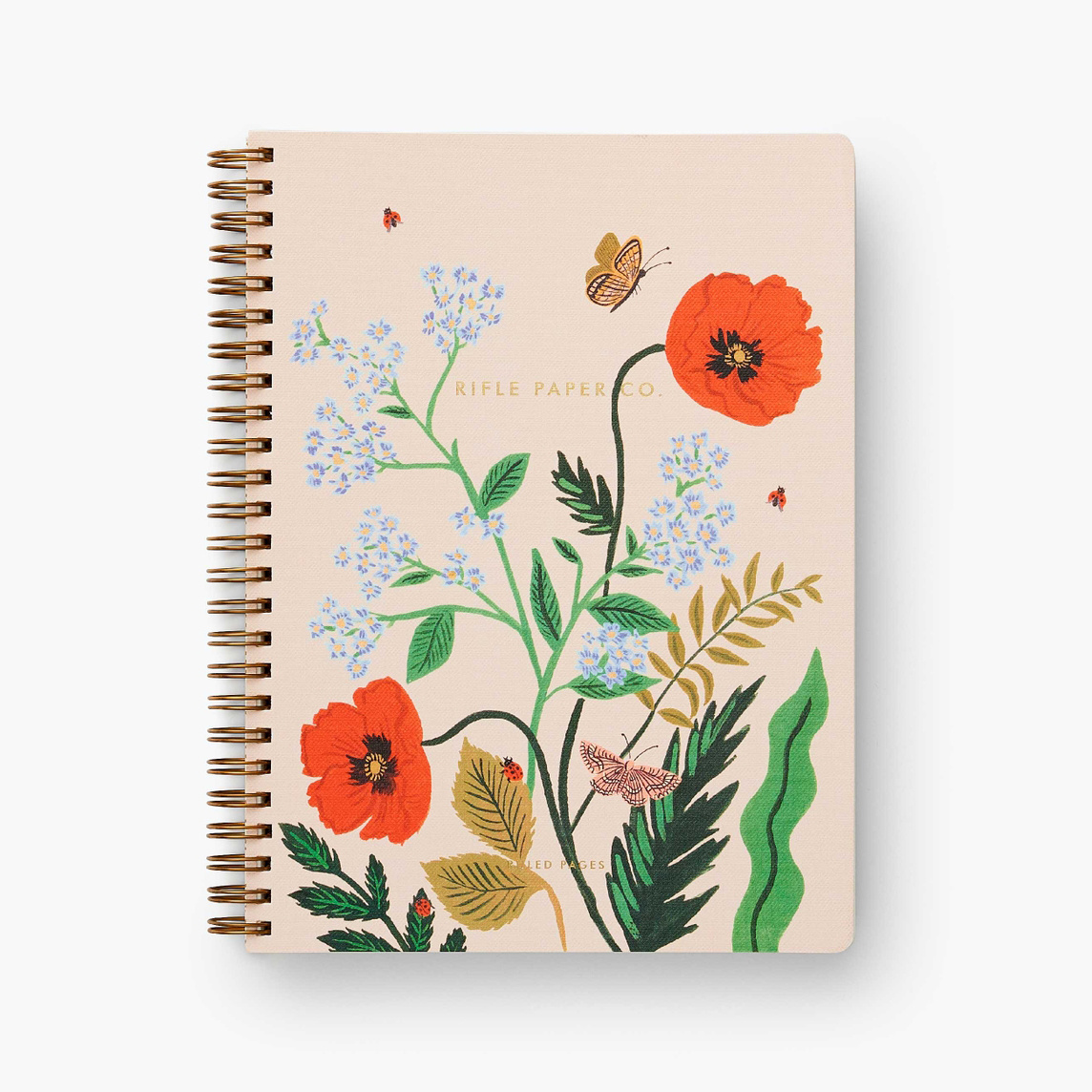 Rifle Paper Co - RP Rifle Paper Co - Poppy Botanical Spiral Lined Notebook