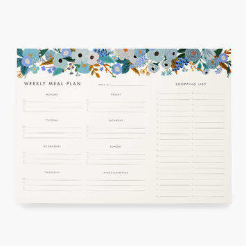 Rifle Paper Co - RP Rifle Paper Co - Garden Party Blue Meal Planner Notepad