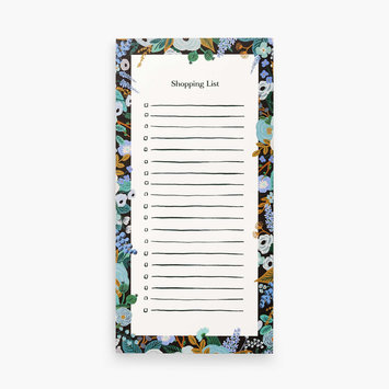 Rifle Paper Co - RP Rifle Paper Co - Garden Party Blue Market List Notepad