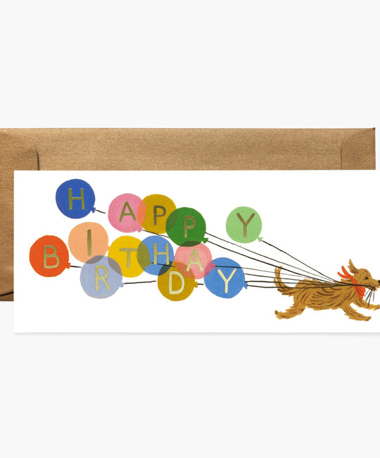 Rifle Paper Co - RP Rifle Paper Co - Balloon Dog No. 10 Birthday Card