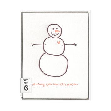 ink meets paper Sending Love Snowman, Boxed Set of 6