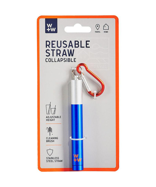 W + W Stainless Steel Reusable Straw