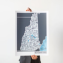 Brainstorm Print and Design - BS Brainstorm - New Hampshire Map, 11 x 14 inch