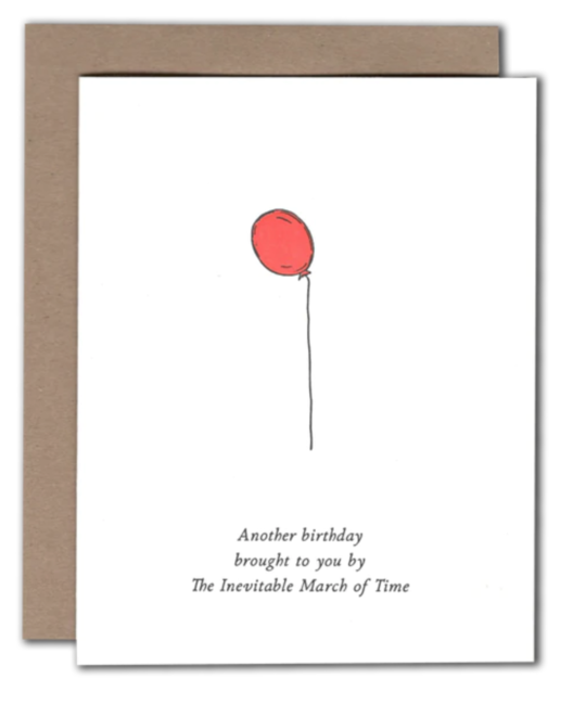 Power and Light Letterpress - PLL March of Time Birthday Card