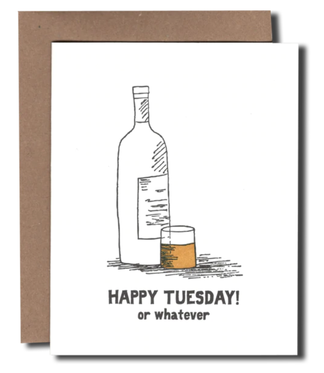 Power and Light Letterpress - PLL PLLGCHU0035 - Happy Tuesday