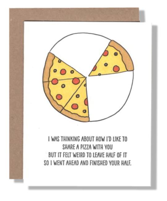 Power and Light Letterpress - PLL PLLGCHU0036 - Half Pizza